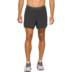 "asics Road 2-N-1 5"" Shorts Heren, graphite grey"